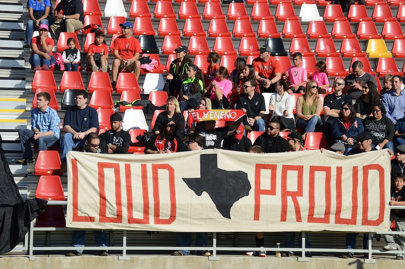 Hundreds of local soccer fans show their support at Toyota Field on Tuesday, Dec. 22, 2015. Photo by Lea Thompson.