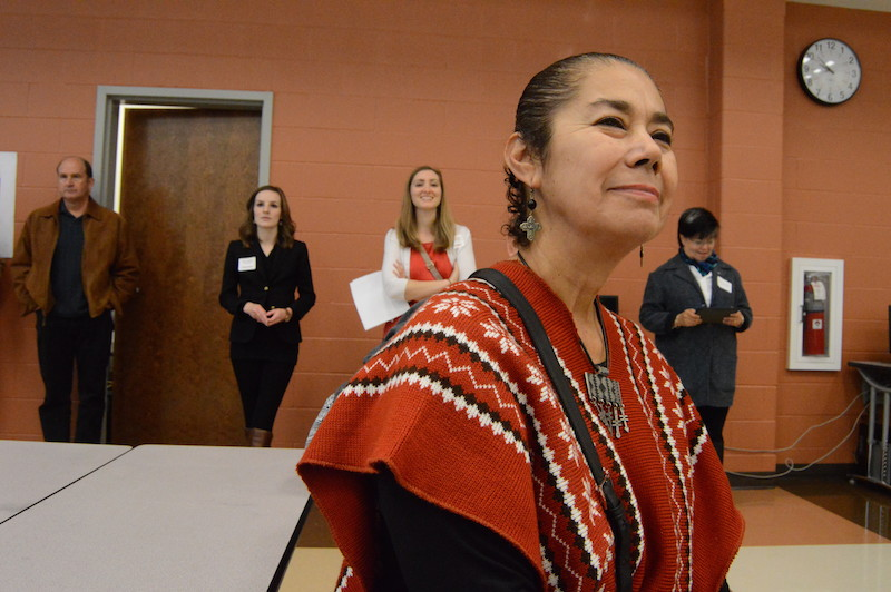 Southside resident and artist Terry Ybañez attends the World Heritage Symposium. Photo by Lea Thompson.