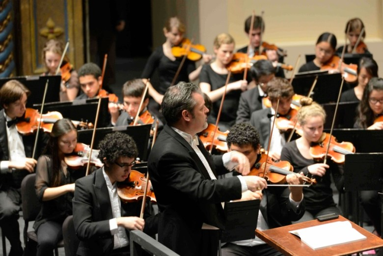 Music Director Troy Peters conducts the YOSA Philharmonic. Courtesy photo.