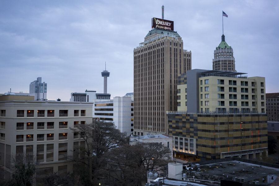 The city of San Antonio downtown skyline.
