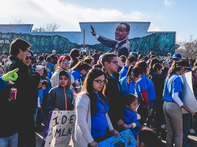 The crowd during the 2015 MLK March. Photo by Scott Ball.