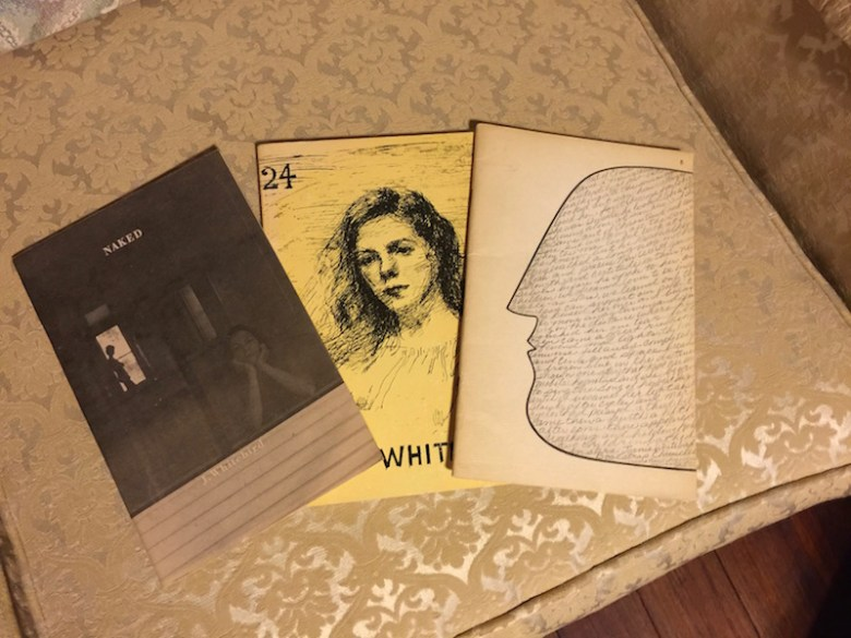 A sampling of Milligan's collection of poetry by Wings Press founder, Joanie Whitebird. Photo by Wendy Weil Attwell.