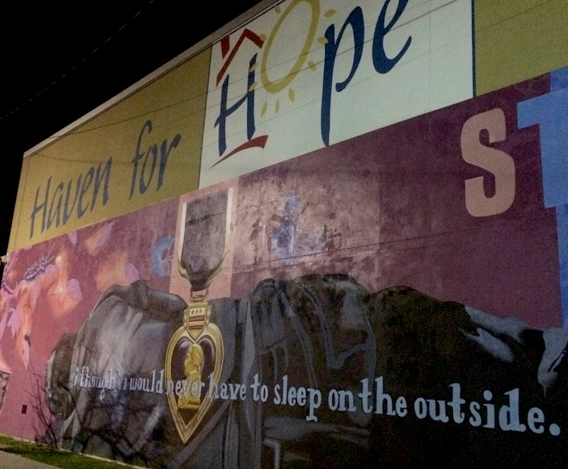 The mural outside Haven for Hope. Photo by Camille Garcia.