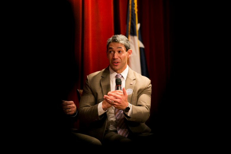 Panelist Councilman Ron Nirenberg spoke about the importance of transportation as a means to improve the city of San Antonio. Photo by Kathryn Boyd-Batstone