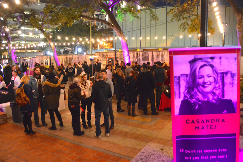 """Attendees enjoy food and drinks at """"Women Shaking it Up."""" Photo by Lea Thompson."""