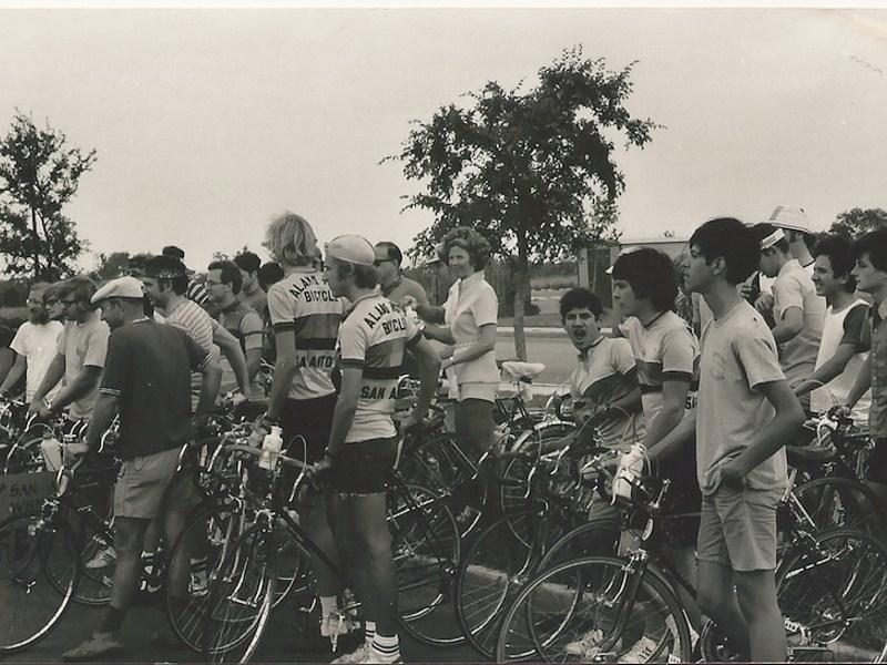SA Wheelmen gear up to start a ride circa 1973. Courtesy photo.