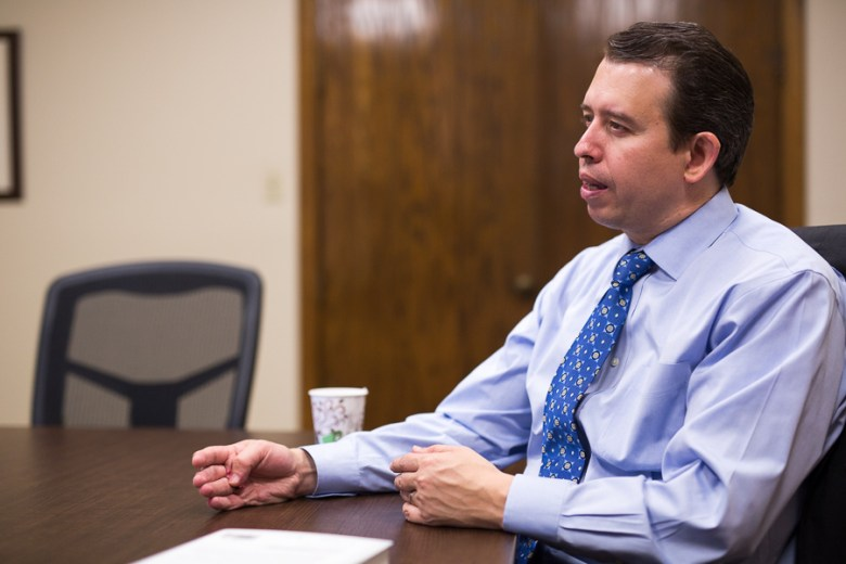 SAISD Superintendent meets with The Rivard Report following his State of the District address. Photo by Scott Ball.