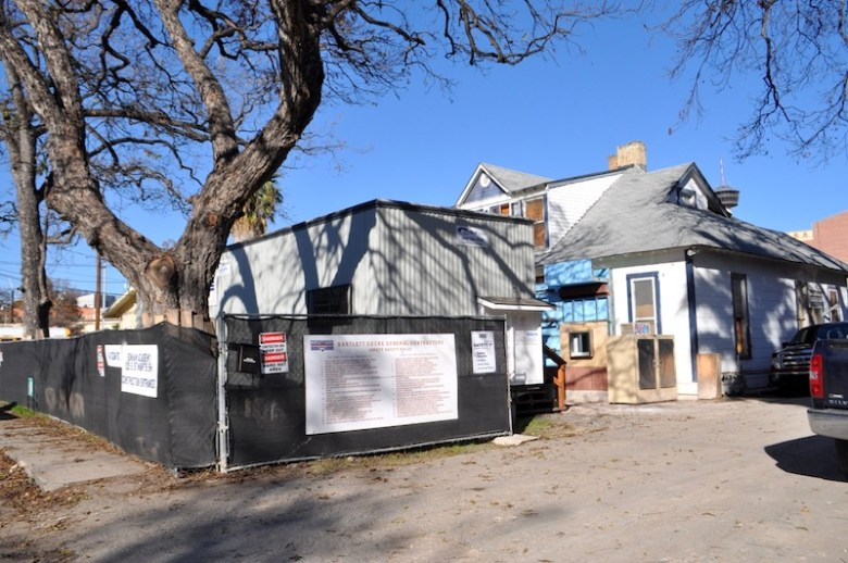 The historic Solon Steward House currently at 114 Cedar St. will be moved less than a block away. Photo by Iris Dimmick.