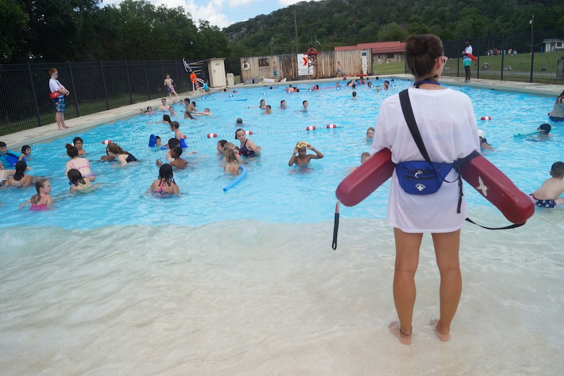 Swimming at Camp Flaming Arrow. Photo courtesy of YMCA of Greater San Antonio.