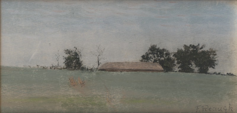 Pasture, Barn and Sky, by Charles F. Reaugh. Gift of Jann and Fred Kline, in honor of Cecilia Steinfeldt. Courtesy Image.