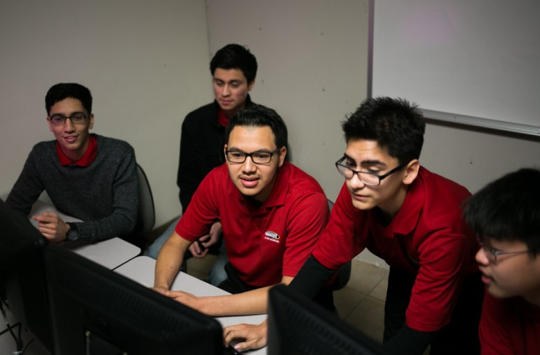 The junior Information Technology & Security Academy team is ranked 22 in the nation for CyberPatriot. Photo by Kathryn Boyd-Batstone