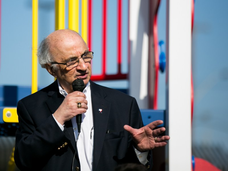 Philanthropist Harvey Najim's foundation, The Najim Family Foundation, provided a $100,000 grant for three playgrounds at Haven For Hope. Photo by Kathryn Boyd-Batstone