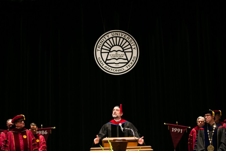 Revered Stephen R. Nickle performed the Benediction at Danny Anderson's Inauguration. Photo by Kathryn Boyd-Batstone