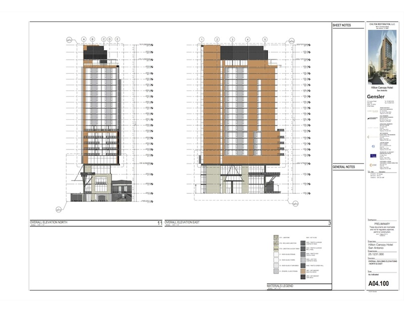 The first 20 floors of the hotel with be retail, restaurant, and guest rooms. Rendering courtesy of Gensler.