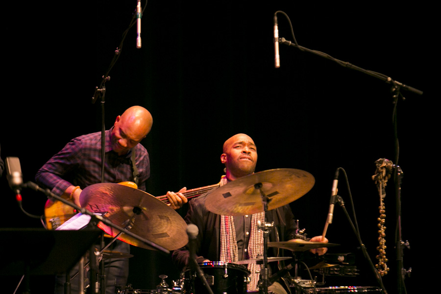 Charles Lloyd and The Marvels include multi-Grammy nominated drummer Eric Harland and basses Reuben Rogers. Photo by Kathryn Boyd-Batstone