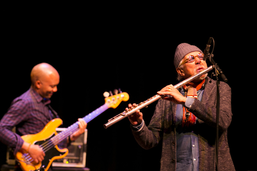 Charles Lloyd is an American jazz musician who primarily plays tenor saxophone and flute. Photo by Kathryn Boyd-Batstone