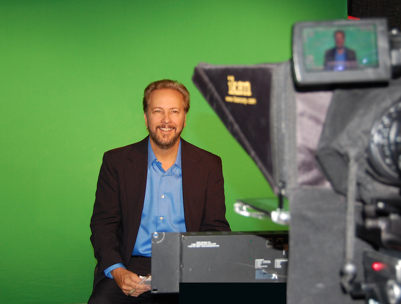 "Chris Duel, host of ""SciTech Now,"" a program on KLRN. Photo Courtesy of KLRN."