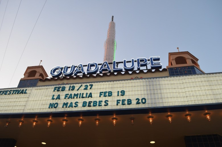 The Guadalupe Cultural Arts Center gears up for the 2016 CineFestival opening night. Photo by Camille Garcia.