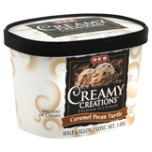 H-E-B has issued a recall for Creamy Creations Caramel Pecan Turtle Ice Cream, over possible wood slivers. Screenshot from HEB.com.