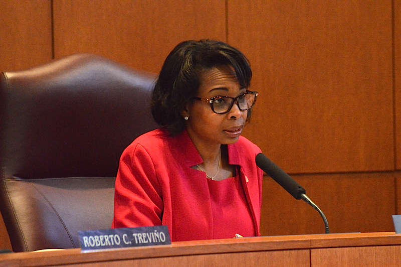 Mayor Ivy Taylor said that Sheryl Sculley's performance as City Manager is worth the high salary. Photo by Lea Thompson.