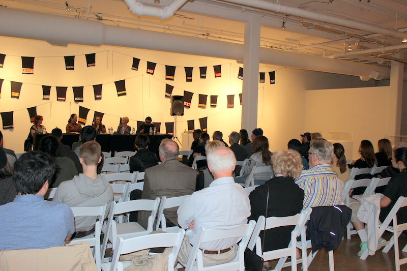 """The """"How to Collect"""" panel at Blue Star Contemporary Art Museum was well-attended in February. Photo by Iris Gonzalez."""