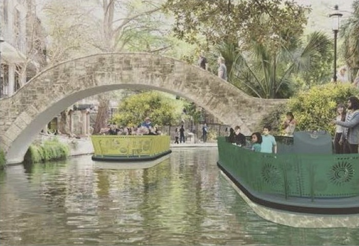 One of the three finalists submitted this river barge rendering that appears to be inspired by papel picado flags.