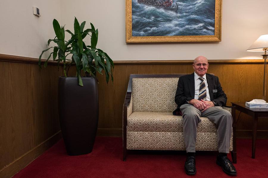 """Trinity Baptist member since 1989, Norman Grimmett remembers many of Pastor Fanning's sermons. """"Buckner was the closest thing to Jesus Christ you'll ever come. I bet he could walk on water if you'd let him."""" Photo by Scott Ball."""