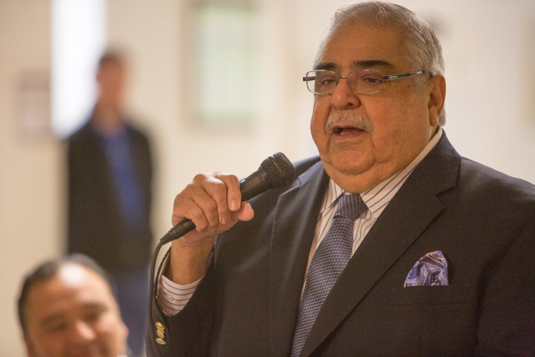 County Commissioner Paul Elizondo (P2) speaks to his longevity of service to the city's Westside. Photo by Scott Ball.