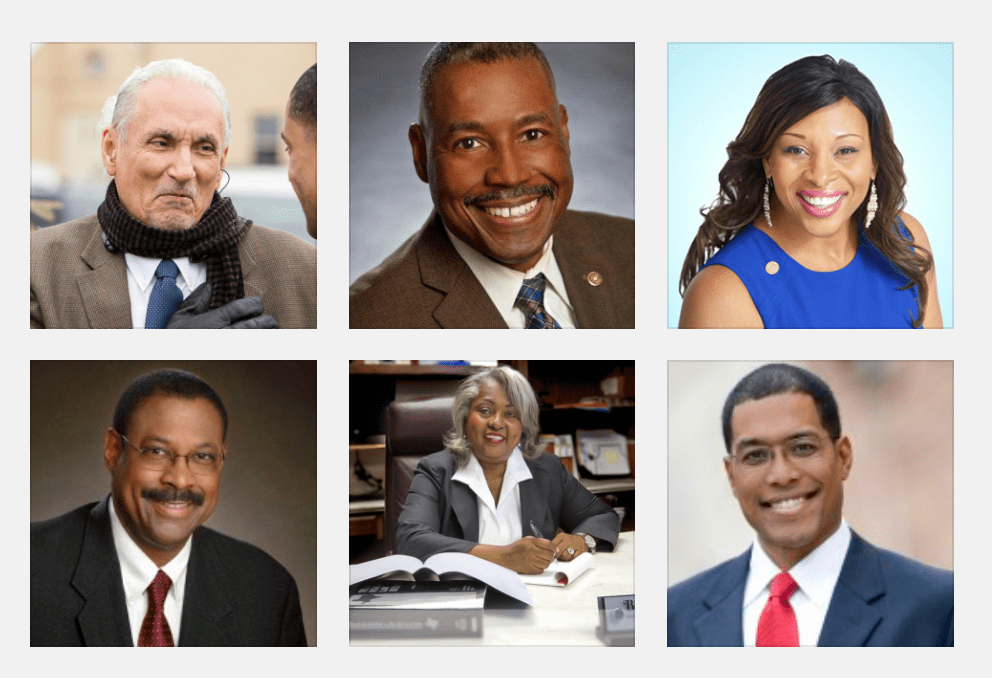 District 120 candidates(top left to bottom right) Mario Salas, Lou Miller, LaTronda Darnell, Byron Miller, Barbara Gervin-Hawkins, Art Hall. Photo collage courtesy of candidates / Scott Ball.