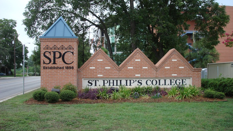 The entrance to St. Philip's College at 1801 Martin Luther King Dr. Courtesy photo,
