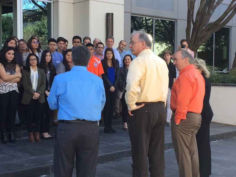 Bexar County area high school students shadowed Whataburger employees during the Citywide Shadow Day. Photo Courtesy of San Antonio Chamber of Commerce.