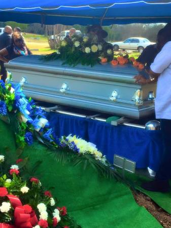 Antronie Scott, 36, was buried in front of family and friends in February. Photo courtesy of Ciara Cardreon.