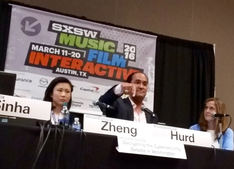U.S. Rep Will Hurd of San Antonio speaks during a SXSW Interactive panel cybersecurity at the JW Marriott Austin on Sunday, March 13, 2016. Photo by Edmond Ortiz