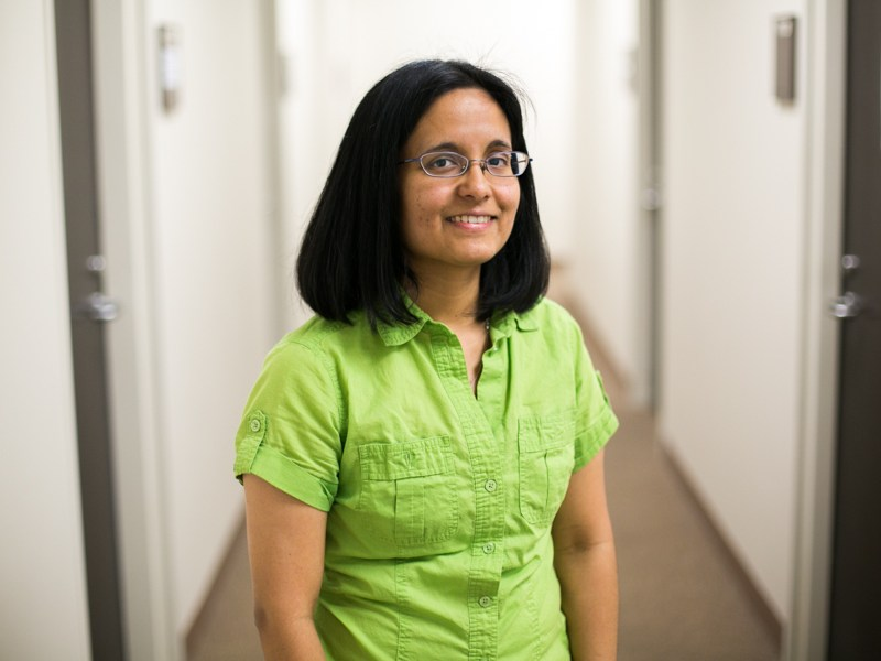 Marina Suarez, assistant professor of geology at The University of Texas at San Antonio, received a National Science Foundation Faculty Early Career Development (CAREER) Award to support her top-tier research in paleoclimatology. Photo by Kathryn Boyd-Batstone