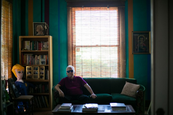 """Though local writer Gregg Barrios lived and worked in Los Angeles for 20 years, he eventually made his way back to his """"home"""" in San Antonio. Photo by Kathryn Boyd-Batstone."""