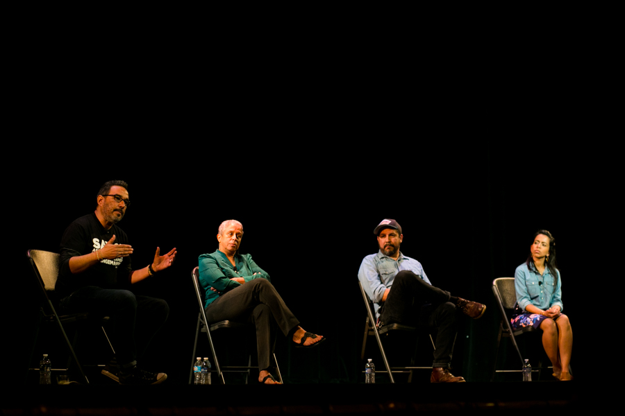 Artistic Executive Director of Say Sí Jon Hinojosa speaks about how diversity and inclusion policies work at Say Sí on a small scale. Photo by Kathryn Boyd-Batstone
