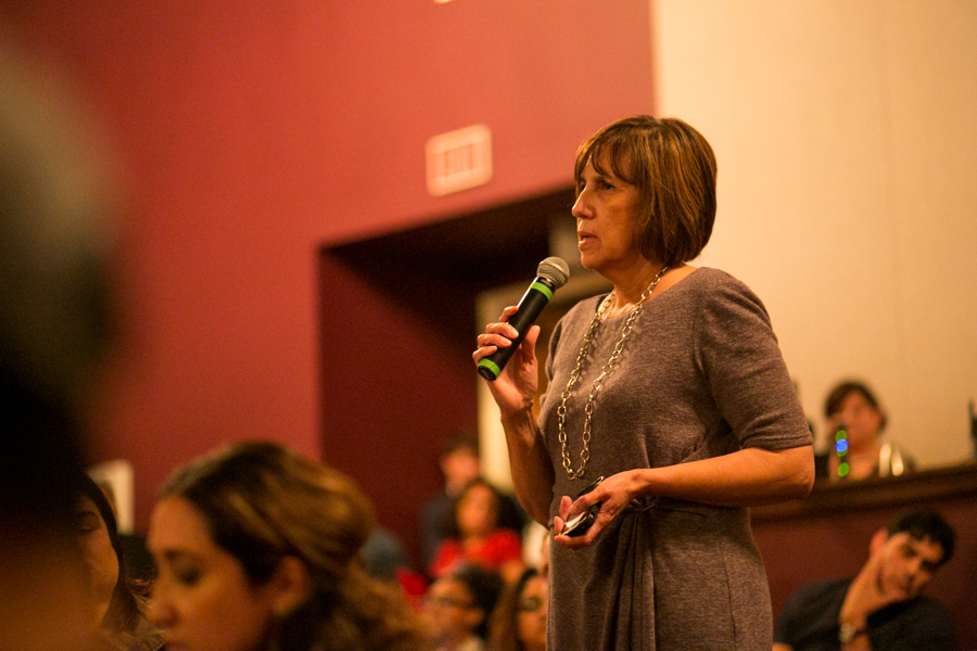 National Association of Latino Arts and Cultures Executive Director Maria López De León speaks about the differences in inclusion and opportunity. Photo by Kathryn Boyd-Batstone