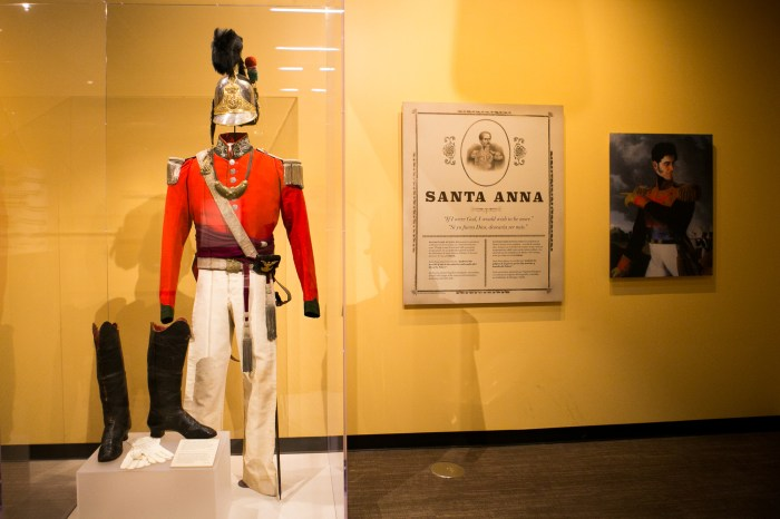 Santa Anna's suit will be on display at the Alamo. Photo by Kathryn Boyd-Batstone