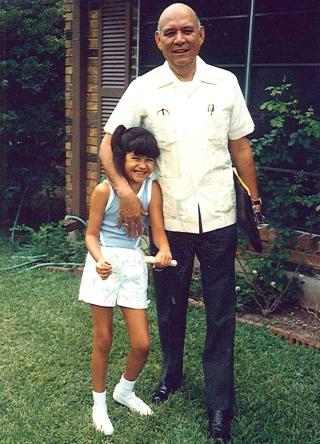 10-year-old Nina Duran and her father Tino Duran, founder and former publisher of La Prensa. Photo courtesy of La Prensa.