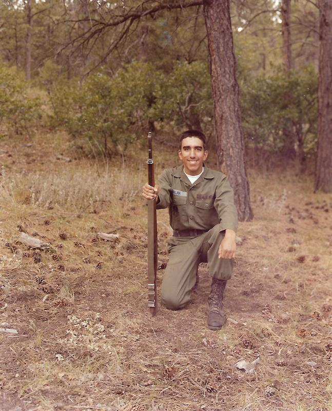 Victor Palma during basic training at the U.S. Air Force Academy in Colorado Springs, circa 1980. Photo courtesy of Victor Palma.