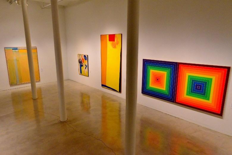 Works by (l-r) Diebenkorn, Hofmann, Frankenthaler and Stella. Photo by Page Graham.