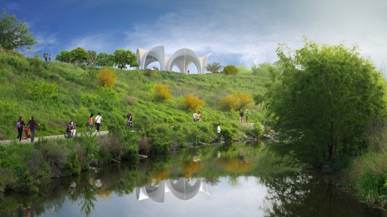 Construction crews working on Confluence Park will officially break ground on May 11, 2016. Rendering courtesy of Lake/Flato Architects and the San Antonio River Foundation.