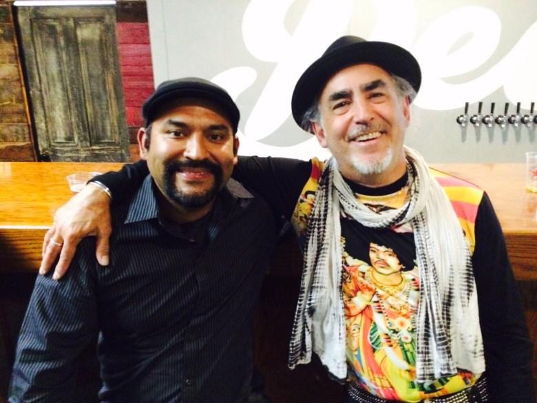 Marco Cervantes  (left) and John Phillip Santos.  Photo by Adam Tutor