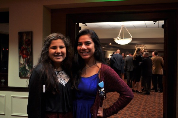 Larry Menendez' daughters Irie, 13, and Miranda, 16, pose for a photo at the Plaza club. Photo by Iris Dimmick