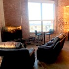 My living room in The Peanut Factory Lofts. Photo by Mike Price.