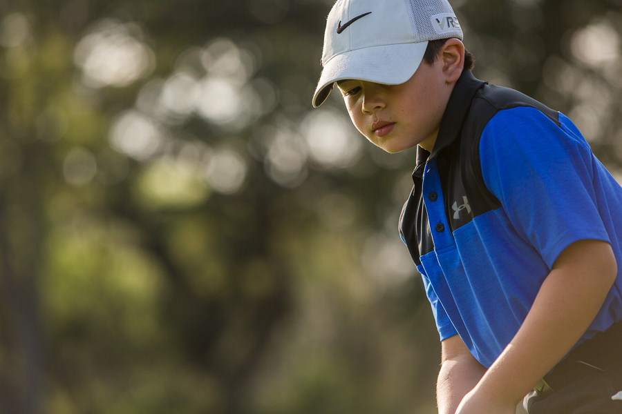 Diego Garcia, 8, is in second grade and has competed in 38 tournaments. Photo by Scott Ball.