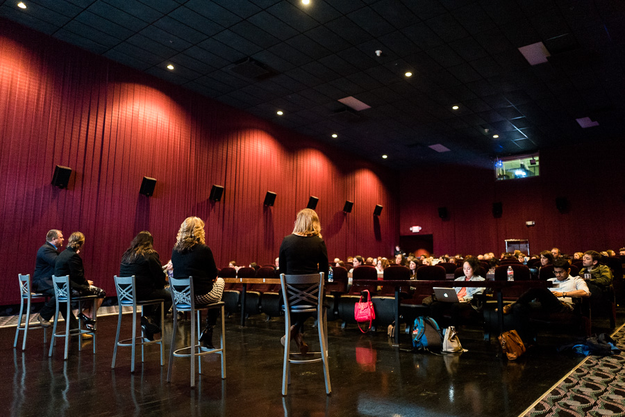 A panel featuring professionals and experts on Sex Trafficking was formed after the screening of The Long Night. Photo by Scott Ball.