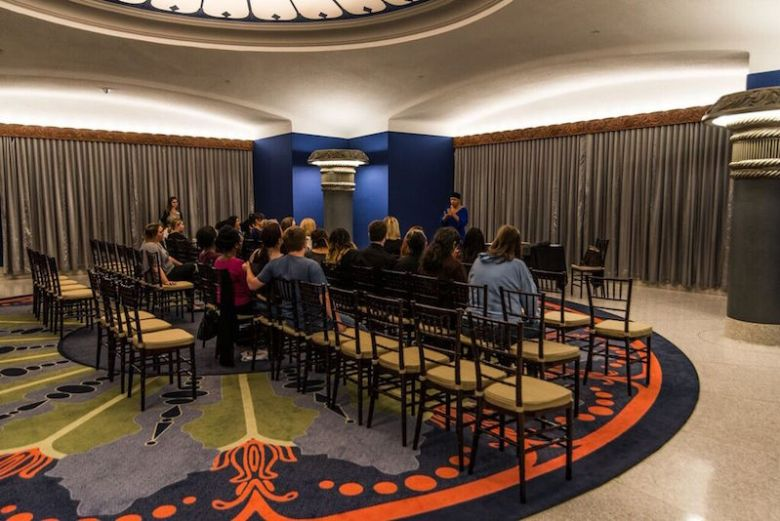 Shirley Childress' Q&A session in the East Rotunda with students of the American Sign Language program at San Antonio College and members of the ASL Glee Club. Courtesy  photo.