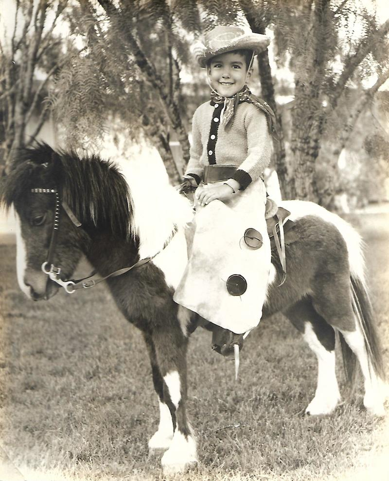 Victor Palma, 4, poses for a photo. A man with a pony was selling portraits in San Antonio's Valley Hi neighborhood in March of 1967. Photo courtesy of Victor Palma.