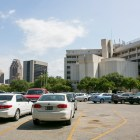 The City-owned parking lot adjacent to the County-owned Central Texas Detention Facility. Photo by Kathryn Boyd-Batstone